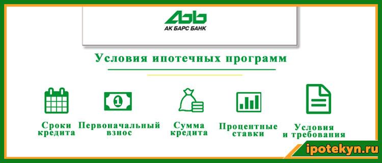 условия ипотеки в АК Барс банке